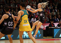 20.10.2016 Silver Ferns Shannon Francois in action during the Silver Ferns v Australia netball test match played at ILT Stadium in Invercargill. Mandatory Photo Credit ©Michael Bradley.