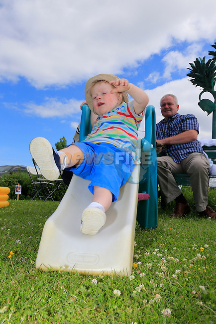 Eli Heffernan at the Summer party in Julianstown community garden.<br /> Picture:  www.newsfile.ie