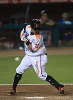 Carlos Gastelum de Naranjeros, durante la apertura de la temporada de beisbol de la Liga Mexicana del Pacifico 2017 2018 con el partido entre Naranjeros vs Yaquis. 11 octubre2017 . <br /> (Foto: Luis Gutierrez /NortePhoto.com)