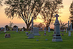 Carlton Cemetery at sunset