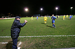 Airbus UK 4 Bangor City 1, 12/01/2007. The Airfield, Welsh Premier League. Former Peterborough United manager Steve Bleasdale makes a point as lowly Airbus UK (blue) take on his Bangor City side in a Welsh Premier League match at The Airfield, Broughton. The Wing Makers won by 4 goals to 1, having lead by a solitary goal at the break in this North Wales clash. Bleasdale was appointed manager at the end of 2006 as a replacement for Clayton Blackmore. Photo by Colin McPherson.
