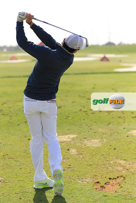 Rory McIlroy Swing sequence at the Abu Dhabi HSBC Golf Championship in the Abu Dhabi golf club, Abu Dhabi, UAE..Picture: Fran Caffrey/www.golffile.ie.