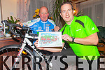 Time to dust off the cobwebs and get your bike ready for a Fun Cycle in aid of the Alzheimer's Society of Ireland on St Stephens Day from Colaiste na Sceilge to Portmagee and back starting at 11am, pictured here l-r; Mike O'Sullivan & Barry O'Shea.  A 5K Fun Walk will also take place on St Stephen's Day from Cahersiveen Rowing Club at 12 noon with proceeds going to the Rowing Club & the Alzheimers Society of Ireland.