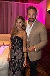 Zoe Hardman and Paul Doran Jones at the gala dinner.<br /> The Celebrity Cup 2015<br /> Celtic Manor Resort<br /> <br /> 04.07.15<br /> &copy;Steve Pope - SPORTINGWALES