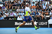 9th January 2018, ASB Tennis Centre, Auckland, New Zealand; ASB Classic, ATP Mens Tennis;  Tennys Sandgren (USA) during the ASB Classic ATP Men's Tournament Day 2