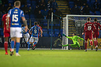 24th November 2019; McDairmid Park, Perth, Perth and Kinross, Scotland; Scottish Premiership Football, St Johnstone versus Aberdeen; Matthew Kennedy of St Johnstone scores for 1-1 in the 71st minute - Editorial Use