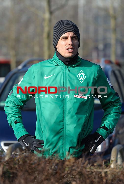 22.02.2015, Trainingsgelaende, Bremen, GER, 1.FBL, Training Werder Bremen, im Bild Raphael Wolf (Bremen #1)<br /> <br /> Foto &copy; nordphoto / Frisch