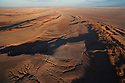 Namibia, Namib Desert, aerial of eastern edge of Namib Desert