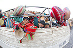 Children On Truck Transport