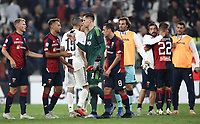 Calcio, Serie A: Juventus - Genoa, Turin, Allianz Stadium, October 20, 2018.<br /> Juventus' players greets Genoa's players at the end of the Italian Serie A football match between Juventus and Genoa at Torino's Allianz stadium, October 20, 2018.<br /> The match result is 1-1<br /> UPDATE IMAGES PRESS/Isabella Bonotto