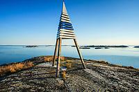Stångmärke vid ytterskärgården Kallskär i Stockholms skärgård/ Stockholm archipelago Sweden
