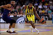 8th December 2017, Palau Blaugrana, Barcelona, Spain; Turkish Airlines Euroleague Basketball, FC Barcelona Lassa versus Fenerbahce Dogus Istanbul; Brad Wanamaker of Fenerbahce Dogus istanbul dribbling