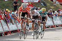Ruben Perez, Lloyd Mondory and David De La Fuente during the stage of La Vuelta 2012 between La Robla and Lagos de Covadonga.September 2,2012. (ALTERPHOTOS/Acero) /NortePhoto.com<br /> <br /> **CREDITO*OBLIGATORIO** <br /> *No*Venta*A*Terceros*<br /> *No*Sale*So*third*<br /> *** No*Se*Permite*Hacer*Archivo**<br /> *No*Sale*So*third*