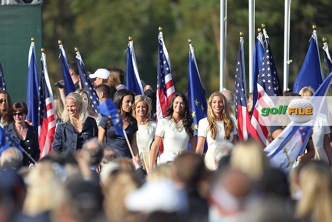 The opening ceremony at the Ryder Cup 2012, Medinah Country Club,Medinah, Illinois,USA 27/09/2012.Picture: Fran Caffrey/www.Golffile.ie.