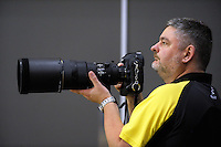 Photographer Andy Radka shoots the National League netball match between Central and Skycity Northern at Te Rauparaha Bank Arena, Wellington, New Zealand on Sunday, 1 May 2016. Photo: Dave Lintott / lintottphoto.co.nz