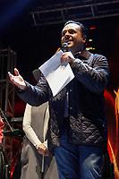 Querétaro, Qro. 15 de diciembre de 2018.- Los cantaautores mexicanos Raúl Oranelas y Fernando Delgadillo cerraron las actividades del primer día del Trovafest 2018.