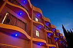Detail hotel architecture Sunset Strip