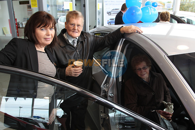 Noreen clerkin Danny bagel Lilly at the Opening of Drogheda Car sales on the north road, Drogheda...Picture: Fran Caffrey/www.newsfile.ie.