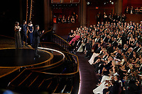 Taika Waititi accepts the Oscar® for Adapted Screenplay during the live ABC Telecast of The 92nd Oscars® at the Dolby® Theatre in Hollywood, CA on Sunday, February 9, 2020.<br /> *Editorial Use Only*<br /> CAP/AMPAS<br /> Supplied by Capital Pictures