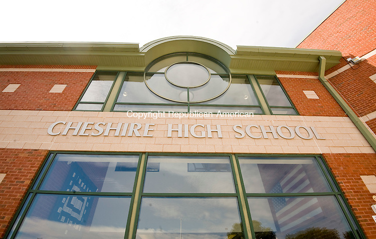 CHESHIRE, CT-100617JS08-- Cheshire High School, like other schools in the state, will be impacted by steep Education Cost Sharing funding cuts imposted by the Governor's Executive Order Budget. <br /> Jim Shannon Republican-American