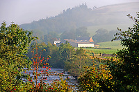 Misty view, Whitewell, Lancashire....Copyright..John Eveson, Dinkling Green Farm, Whitewell, Clitheroe, Lancashire. BB7 3BN.01995 61280. 07973 482705.j.r.eveson@btinternet.com.www.johneveson.com