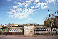 Milano, quartiere Bovisa, periferia nord. Capannoni lungo via Bovisasca --- Milan, Bovisa district, north periphery.  Sheds along Bovisasca street