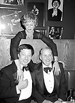 Cy Coleman with Bob Fosse and Juliet Prowse Attending a Theatre Benefit party on November 1, 1981 in New York City.