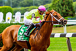 JULY 11, 2020 : Monomoy Girl with Florent Geroux aboard, wins the Grade 2 Ruffian  Stakes, going 1 mile, at Belmont Park, Elmont, NY.  Sue Kawczynski/Eclipse Sportswire/CSM