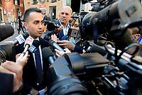 Roma, 22 Maggio 2017<br /> Luigi di Maio intervistato e circontdato da giornalisti e telecamere