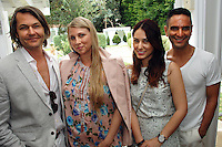 Nero Smerlado, Ariana Lambert Smerlado, Esther Song, Isaac Joseph==<br /> LAXART 5th Annual Garden Party Presented by Tory Burch==<br /> Private Residence, Beverly Hills, CA==<br /> August 3, 2014==<br /> ©LAXART==<br /> Photo: DAVID CROTTY/Laxart.com==
