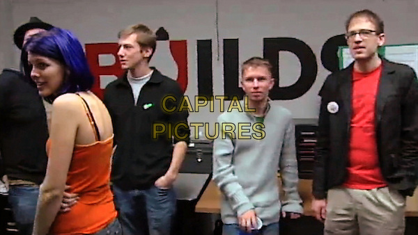 Bradley Manning (center), Private First Class<br /> in We Steal Secrets: The Story of WikiLeaks (2013) <br /> *Filmstill - Editorial Use Only*<br /> CAP/FB<br /> Image supplied by Capital Pictures