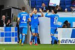 10.03.2019, Prezero-Arena, Sinsheim, GER, 1 FBL, TSG 1899 Hoffenheim vs 1. FC Nuernberg, <br /> <br /> DFL REGULATIONS PROHIBIT ANY USE OF PHOTOGRAPHS AS IMAGE SEQUENCES AND/OR QUASI-VIDEO.<br /> <br /> im Bild: Andrej Kramaric (TSG Hoffenheim #27) jubelt ueber sein Tor zum 2:1 mit Nico Schulz (TSG 1899 Hoffenheim #16)<br /> <br /> Foto &copy; nordphoto / Fabisch