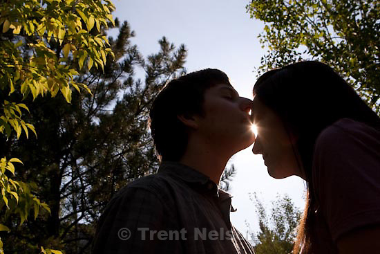 Trent Nelson  |  The Salt Lake Tribune.Sundance - Jacob Ovard engagement photos. Saturday, August 22, 2009.