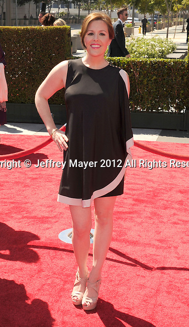 LOS ANGELES, CA - SEPTEMBER 15: Rachael MacFarlane arrives at the 2012 Primetime Creative Arts Emmy Awards at Nokia Theatre L.A. Live on September 15, 2012 in Los Angeles, California.