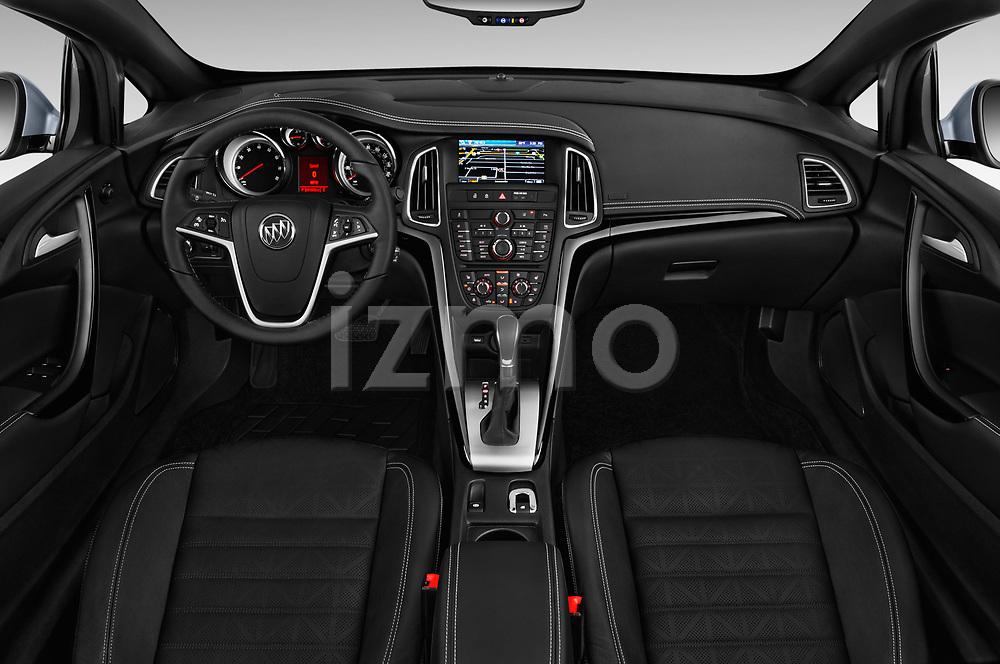 Stock photo of straight dashboard view of 2018 Buick Cascada Premium 2 Door Convertible Dashboard