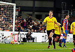 Watford's Daryl Janmaat celebrates scoring his sides opening goal during the premier league match at Selhurst Park Stadium, London. Picture date 12th December 2017. Picture credit should read: David Klein/Sportimage