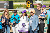 "ARCADIA, CA. OCTOBER 7: Connections of Roy H in the Winners' Circle after winning the Santa Anita Sprint Championship (Grade l)""Win and You're In Sprint Division"" on October 7, 2017, at Santa Anita Park in Arcadia, CA. (Photo by Casey Phillips/Eclipse Sportswire/Getty Images)"