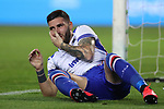 Nicola Murru of Sampdoria holds his face following a clash with an opponent during the Serie A match at Stadio Grande Torino, Turin. Picture date: 8th February 2020. Picture credit should read: Jonathan Moscrop/Sportimage