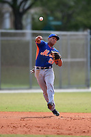 New York Mets shortstop Phillip Evans (28) during a minor league spring training game against the Miami Marlins on March 28, 2014 at Roger Dean Stadium in Jupiter, Florida.  (Mike Janes/Four Seam Images)