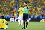 Carlos Velasco Carballo (Referee), JULY 4, 2014 - Football / Soccer : FIFA World Cup Brazil 2014 Quarter Final match between Brazil 2-1 Colombia at the Castelao arena in Fortaleza, Brazil. <br /> (Photo by AFLO)