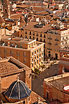 View from the top of the micalet, or bell tower of the Valencia Cathedral