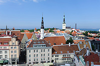 Blick vom Rathaus in Tallinn (Reval), Estland, Europa, Unesco-Weltkulturerbe