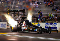 Sep 29, 2017; Madison , IL, USA; NHRA top fuel driver Dom Lagana during qualifying for the Midwest Nationals at Gateway Motorsports Park. Mandatory Credit: Mark J. Rebilas-USA TODAY Sports