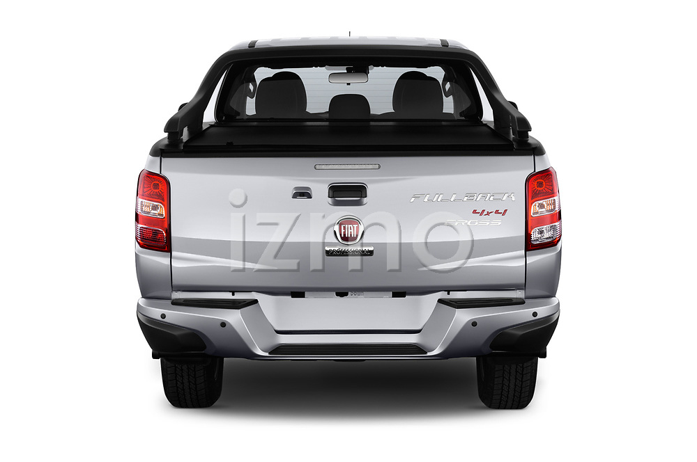 Straight rear view of a 2018 Fiat Fullback Cross Techno 4 Door Pick Up stock images