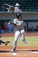 Peoria Javelinas second baseman Keston Hiura (23), of the Milwaukee Brewers organization, at bat during an Arizona Fall League game against the Mesa Solar Sox at Sloan Park on October 24, 2018 in Mesa, Arizona. Mesa defeated Peoria 4-3. (Zachary Lucy/Four Seam Images)