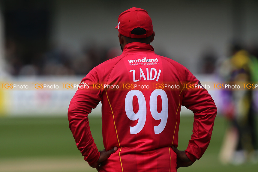 Ashar Zaidi of Essex is his number 99 shirt during Essex Eagles vs Gloucestershire, Royal London One-Day Cup Cricket at The Cloudfm County Ground on 4th May 2017