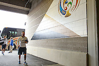 Seattle, WA - Tuesday June 14, 2016: Argentina arriving  prior to a Copa America Centenario Group D match between Argentina (ARG) and Bolivia (BOL) at CenturyLink Field.