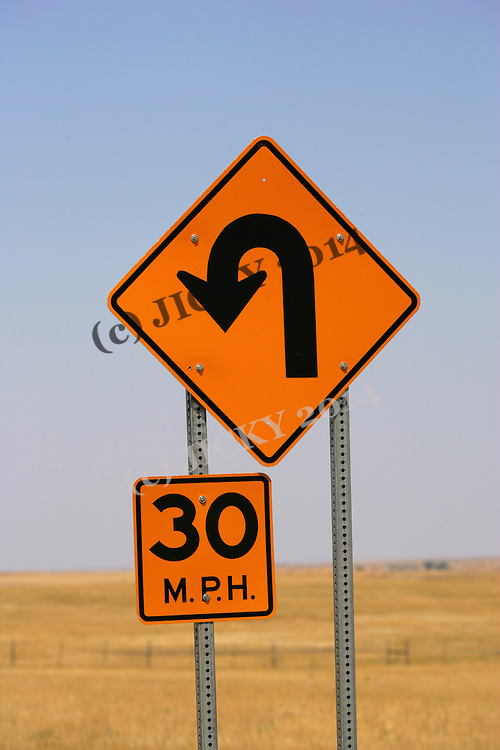 Badlands National Park - road sign