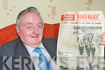 Former Chairman of the IFA, Francie Brosnan, Tullig, Castleisland who will honored with a life membership of the IFA in Tralee next Monday night, Francie is holding the Farmers Journal from 1966 where he is pictured on the front page walking from Kerry to Dublin on the Farmer's Right's March ........