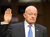 """Former Director of National Intelligence of the United States James R. Clapper is sworn-in to testify before the US Senate Committee on the Judiciary Subcommittee on Crime and Terrorism hearing titled """"Russian Interference in the 2016 United States Election"""" on Capitol Hill in Washington, DC on Monday, May 8, 2017.<br /> Credit: Ron Sachs / CNP<br /> (RESTRICTION: NO New York or New Jersey Newspapers or newspapers within a 75 mile radius of New York City)"""